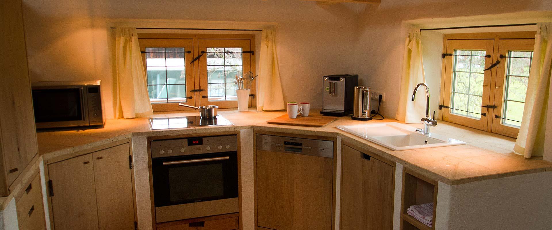 Küche unserer Ferienwohnung